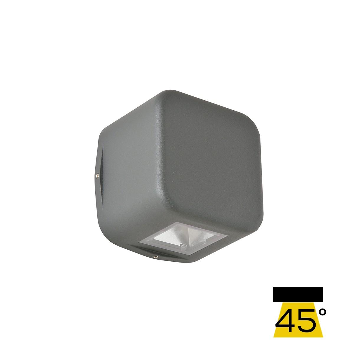 LCD Außenleuchten 1410/1411/1412 LED Wandleuchte, Graphit, Lichtausfall: breit (45°)