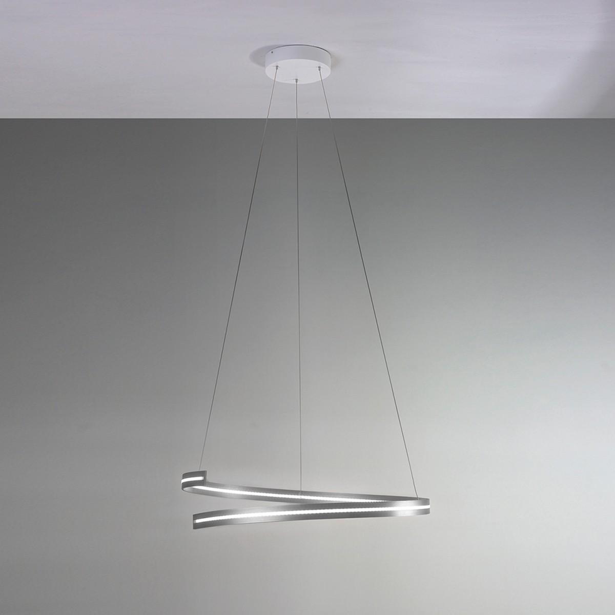 Bopp Break Pendelleuchte Ø: 70 cm, Aluminium geschliffen