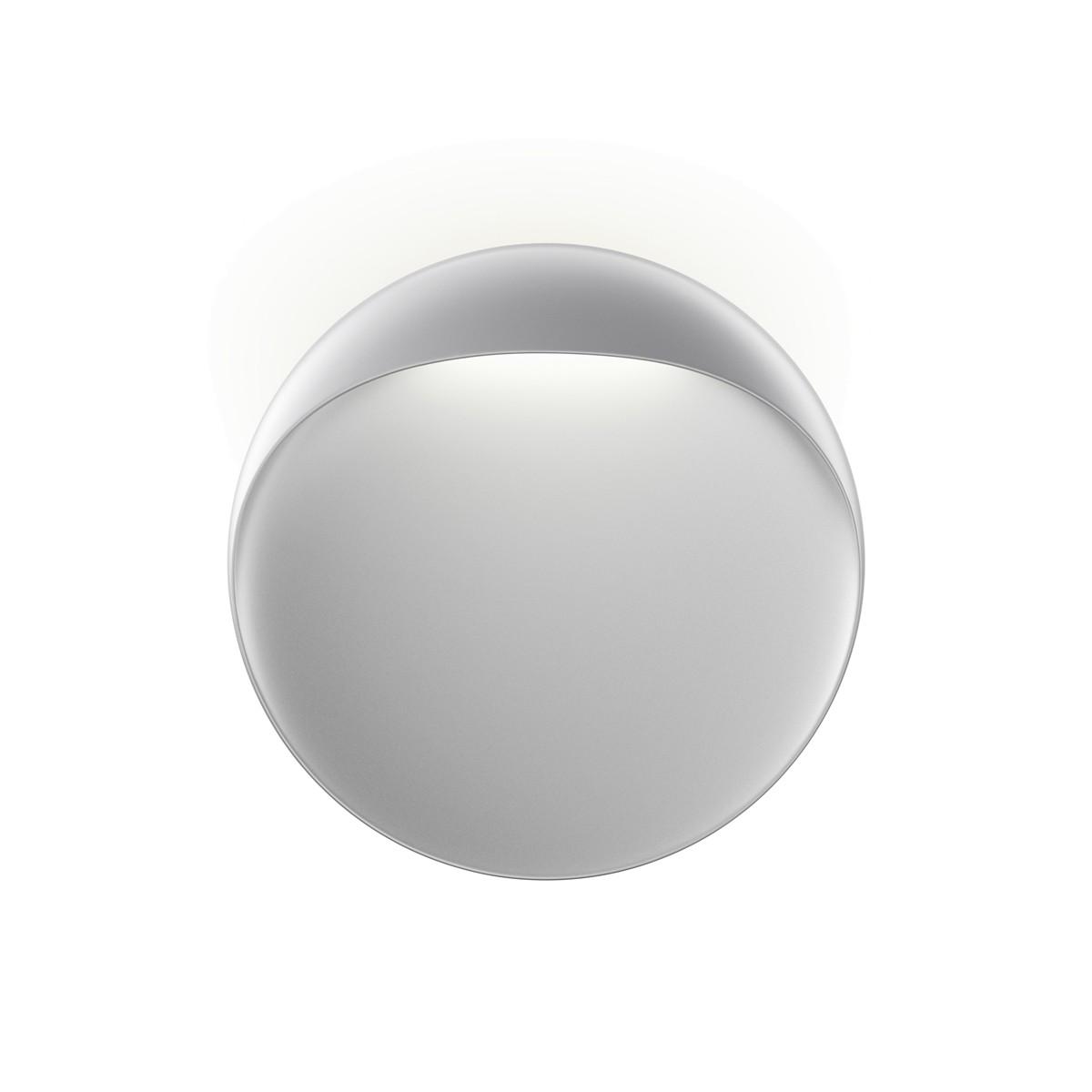 Louis Poulsen Flindt LED Wandleuchte, Ø: 30 cm, 2700 K, aluminiumfarben