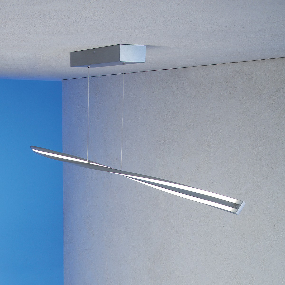 Escale Swing Deckenleuchte, Aluminium geschliffen