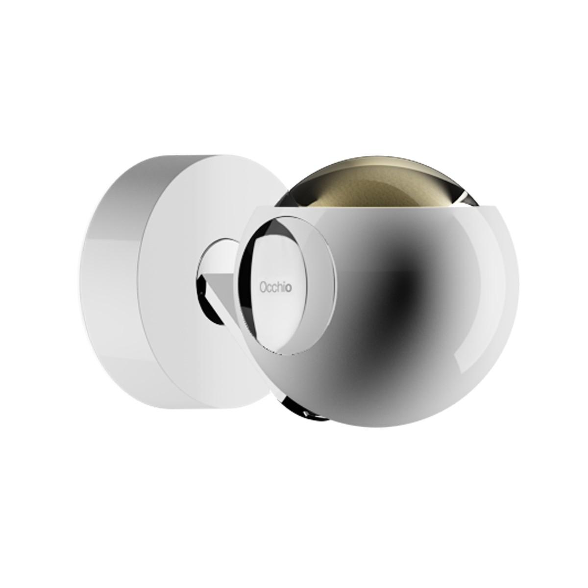 Occhio io 3d pico up C Wand- / Deckenleuchte,  2700K, weiß glänzend, pads und body Chrom