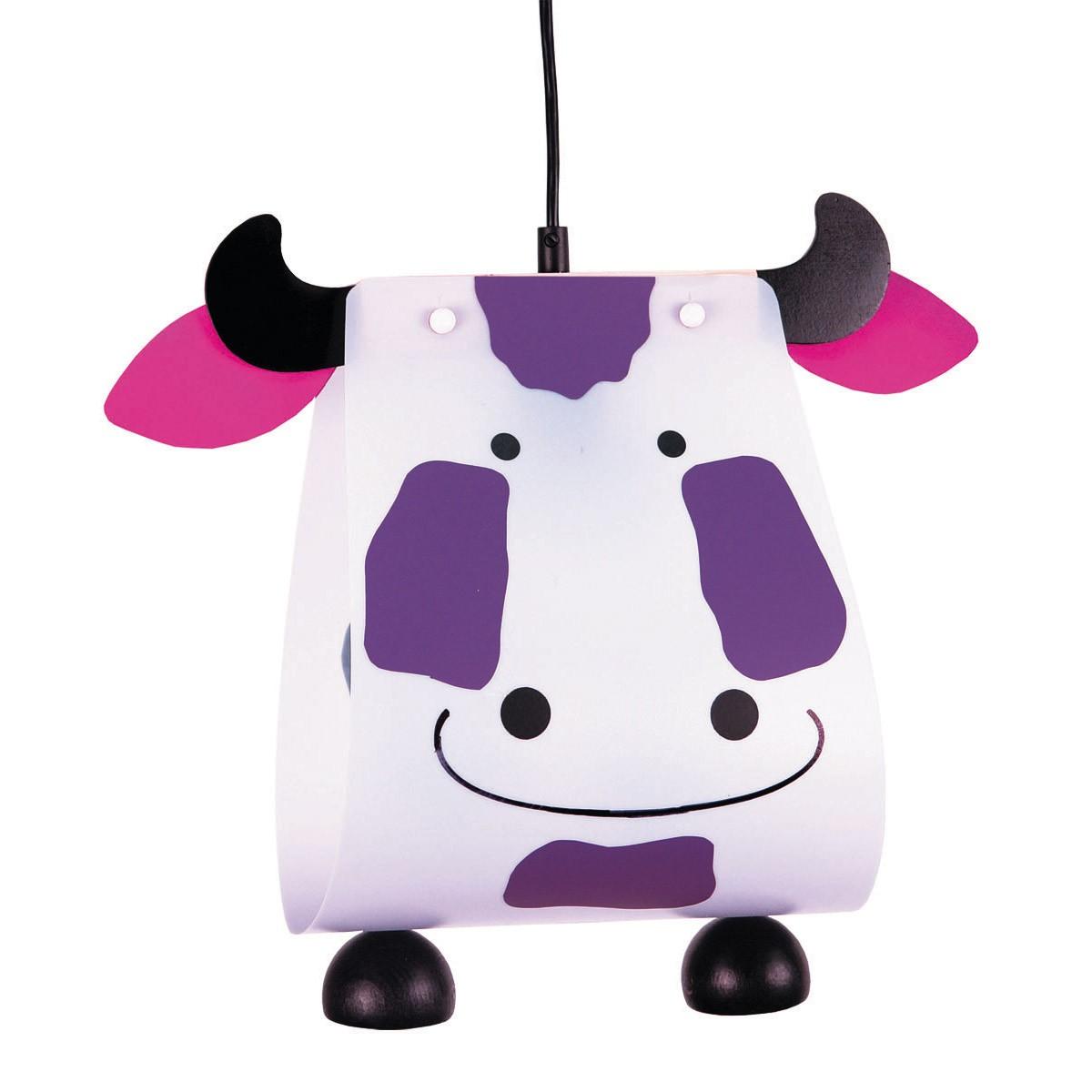 Niermann Standby Kuh Pendelleuchte, weiß - violett