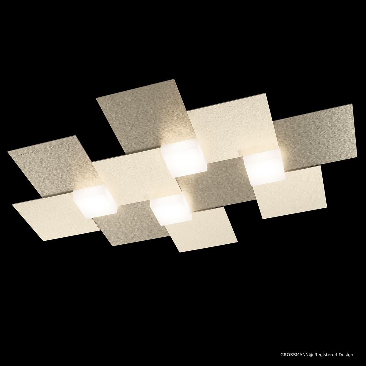 Grossmann Creo LED Deckenleuchte, champagner, 38,5 x 55 cm