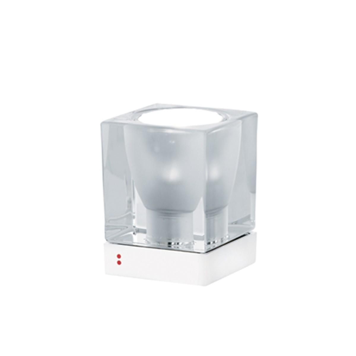 Fabbian Cubetto Tischleuchte, GU10, transparent - weiß