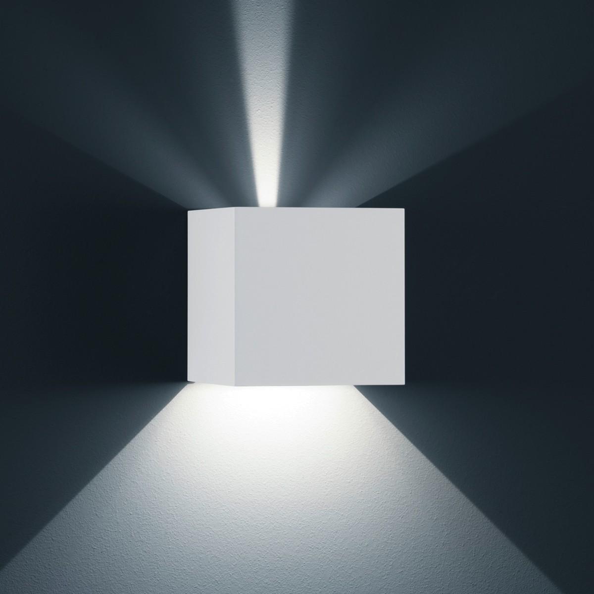 Helestra Siri 44 - L Außenwandleuchte, weiß matt