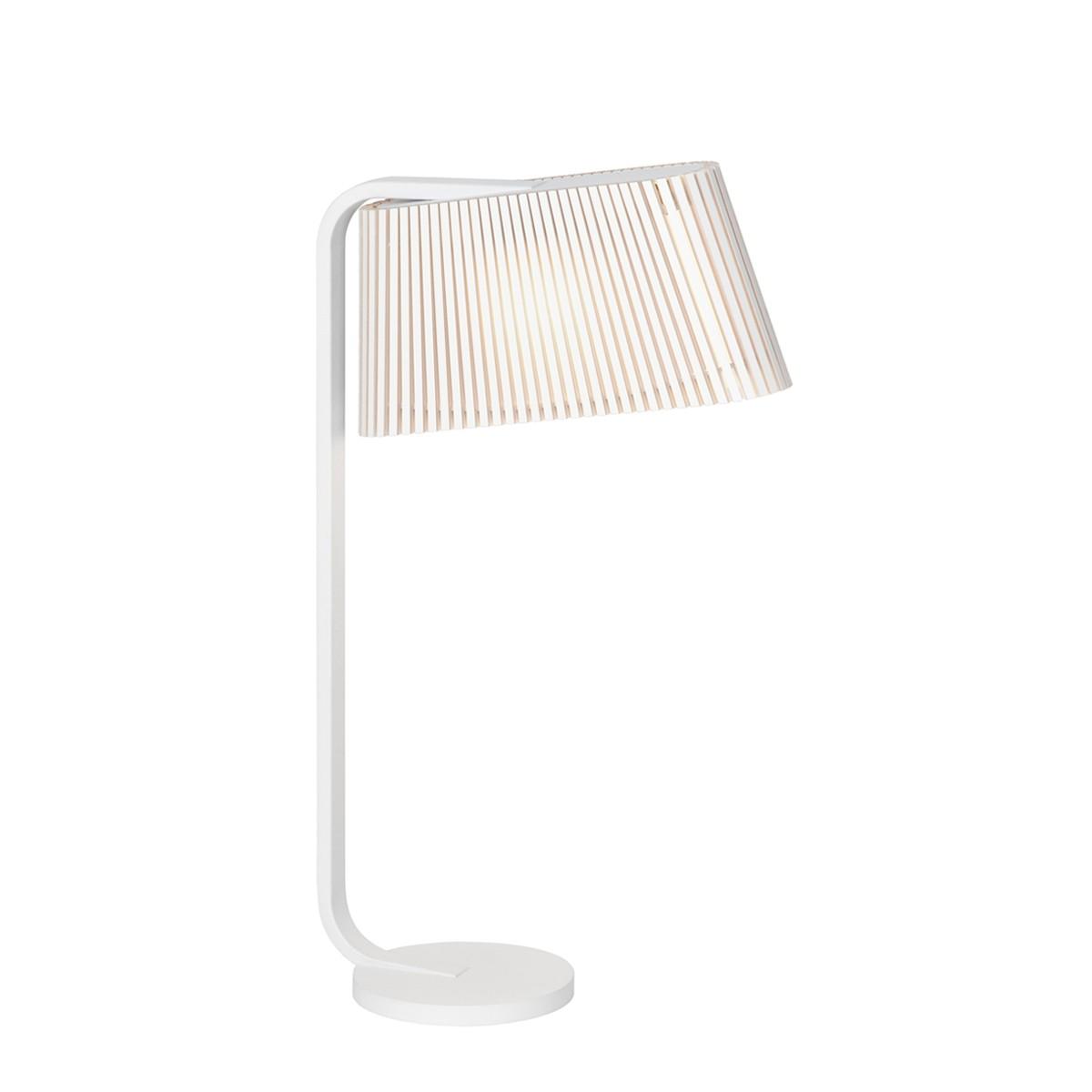 Secto Design Owalo 7020 Tischleuchte, weiß, Schirm: weiß laminiert