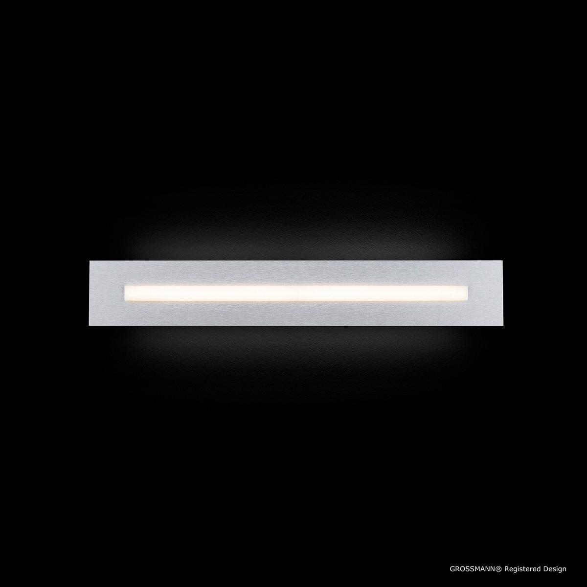 Grossmann Fis LED Wand- / Deckenleuchte, Länge: 57 cm, Aluminium gebürstet