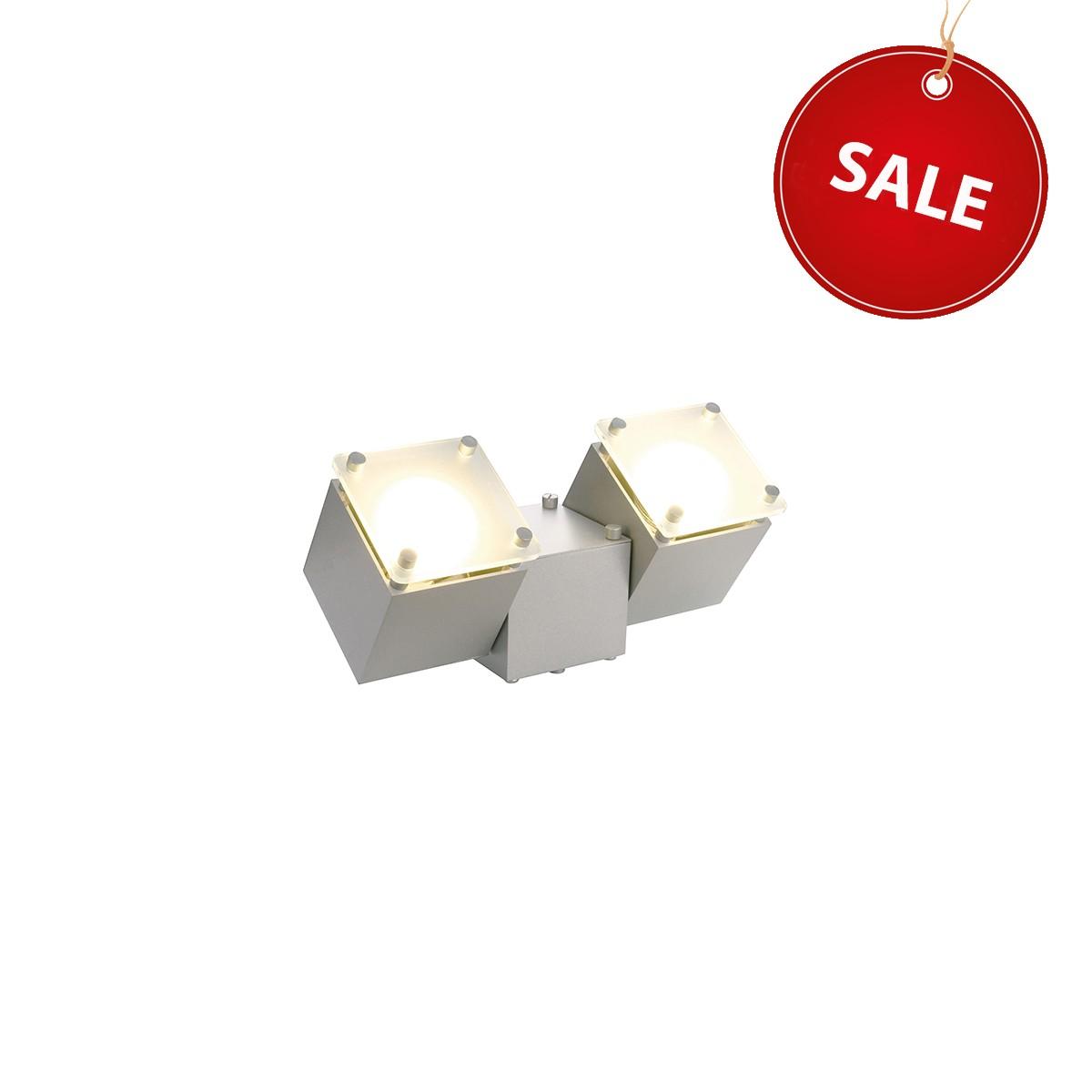 SLV Dice Wand- / Deckenleuchte %Sale%, silbergrau