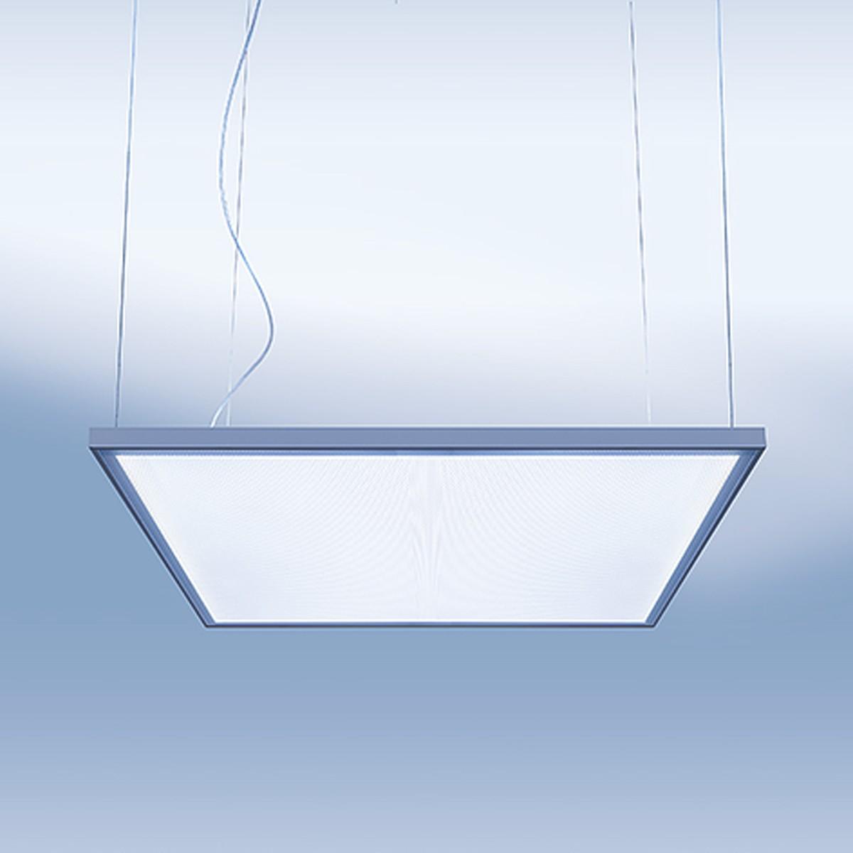 Lightnet Cubic-P2 Superflat Pendelleuchte, 28,2 x 28,2 cm, Aluminium natureloxiert