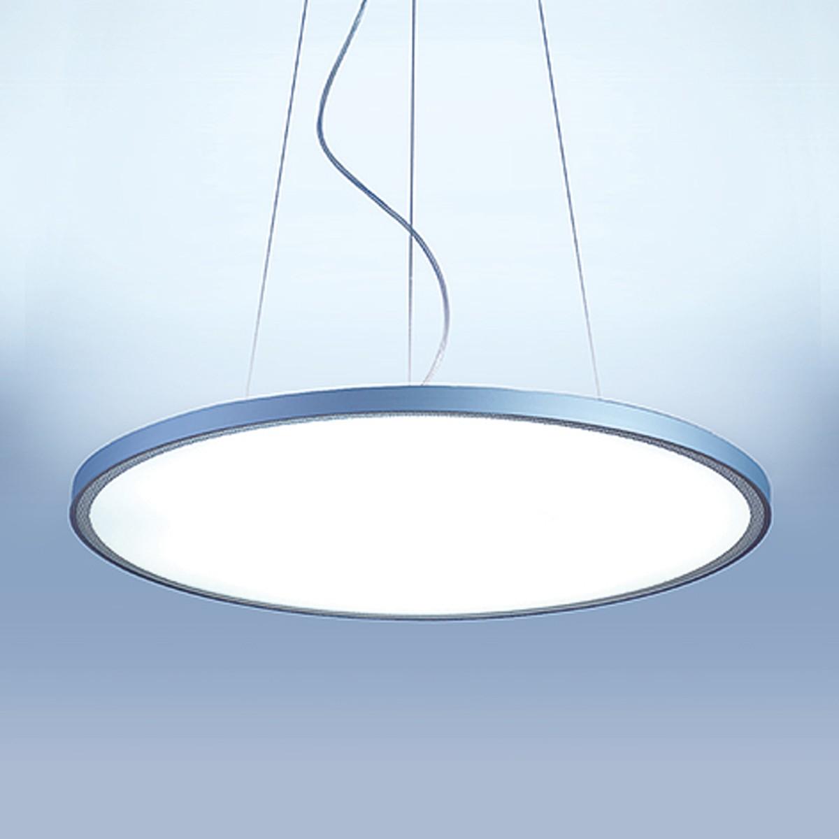 Lightnet Basic-P1 Superflat Pendelleuchte, Ø: 27 cm, Silber matt