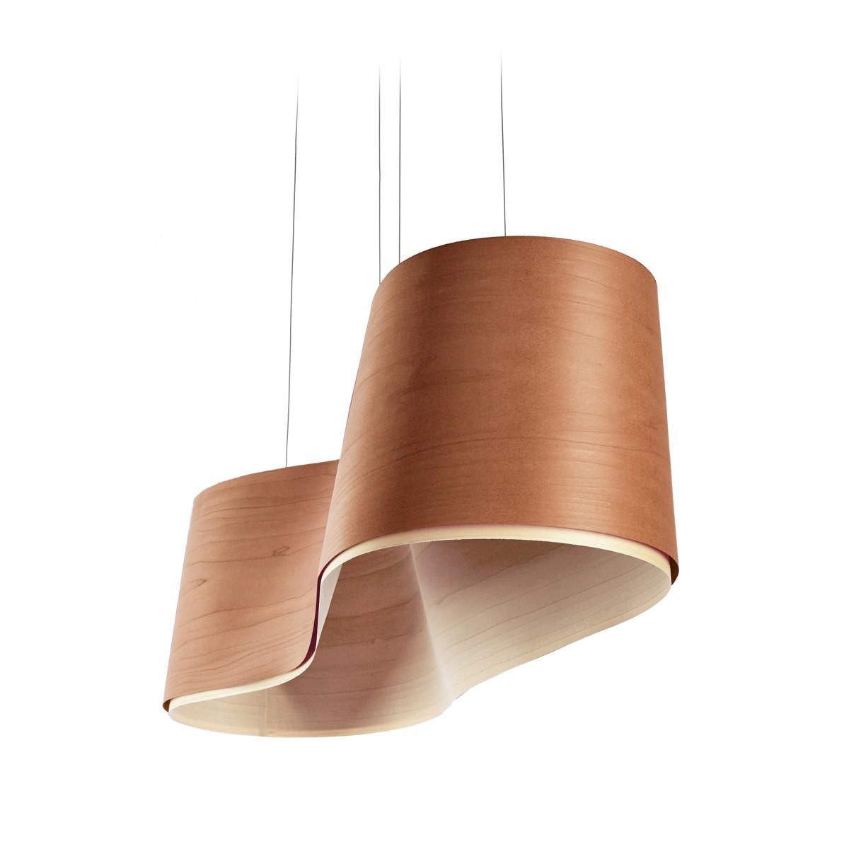 LZF Lamps New Wave LED Pendelleuchte, Kirsche, innen: elfenbeinweiß