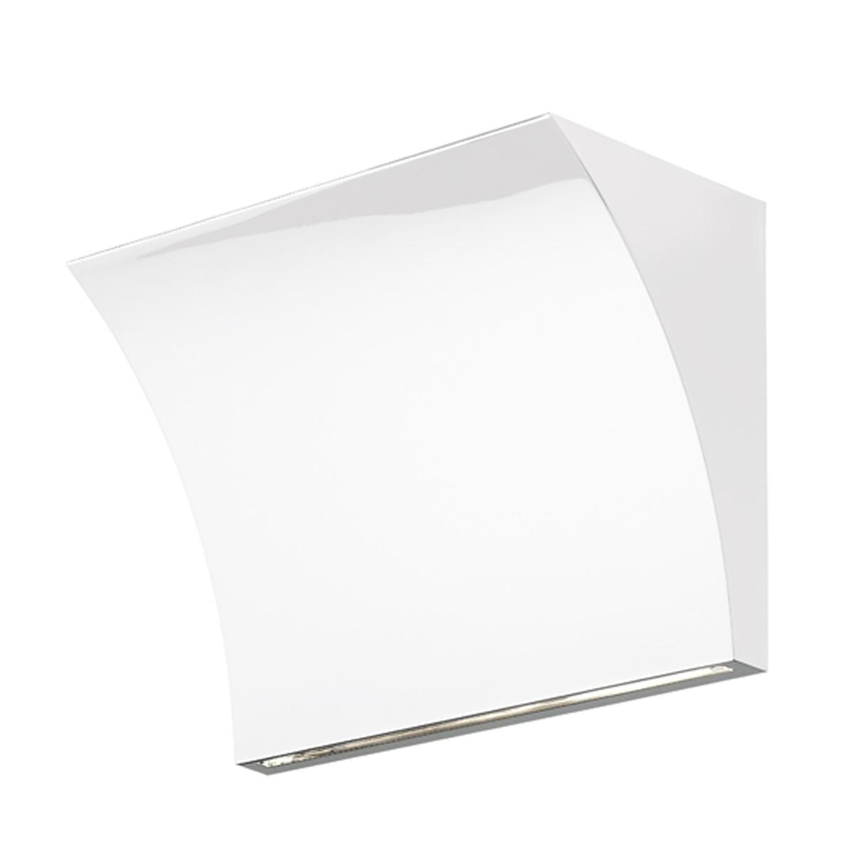 Flos Pochette Up/Down LED Wandleuchte, weiß glänzend