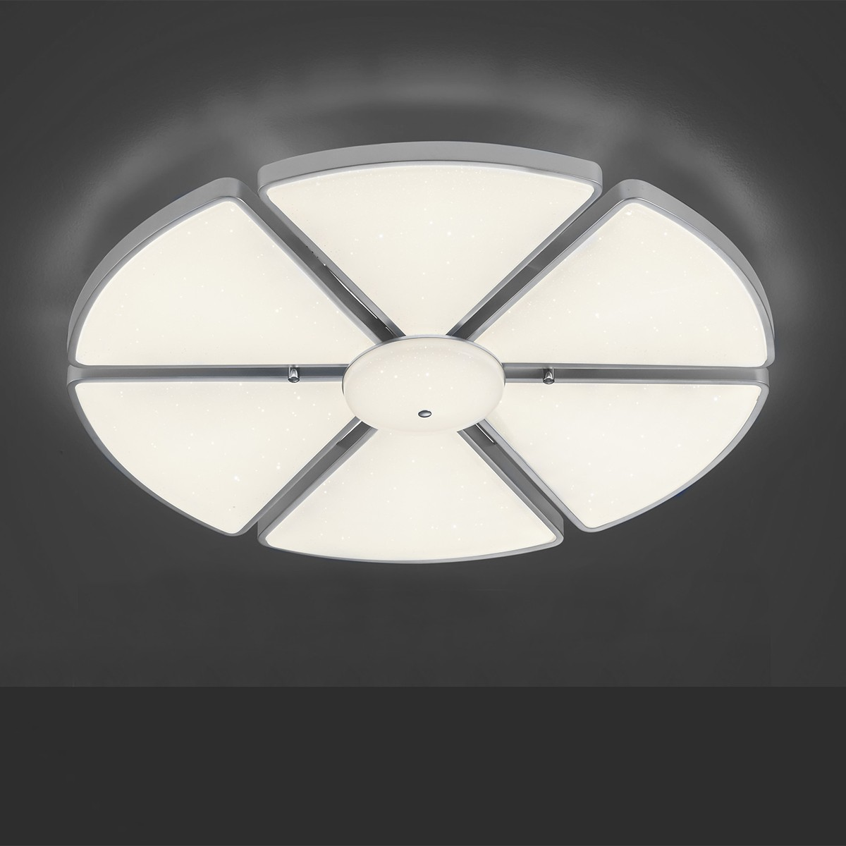 B-Leuchten Tulipano Deckenleuchte, Nickel matt