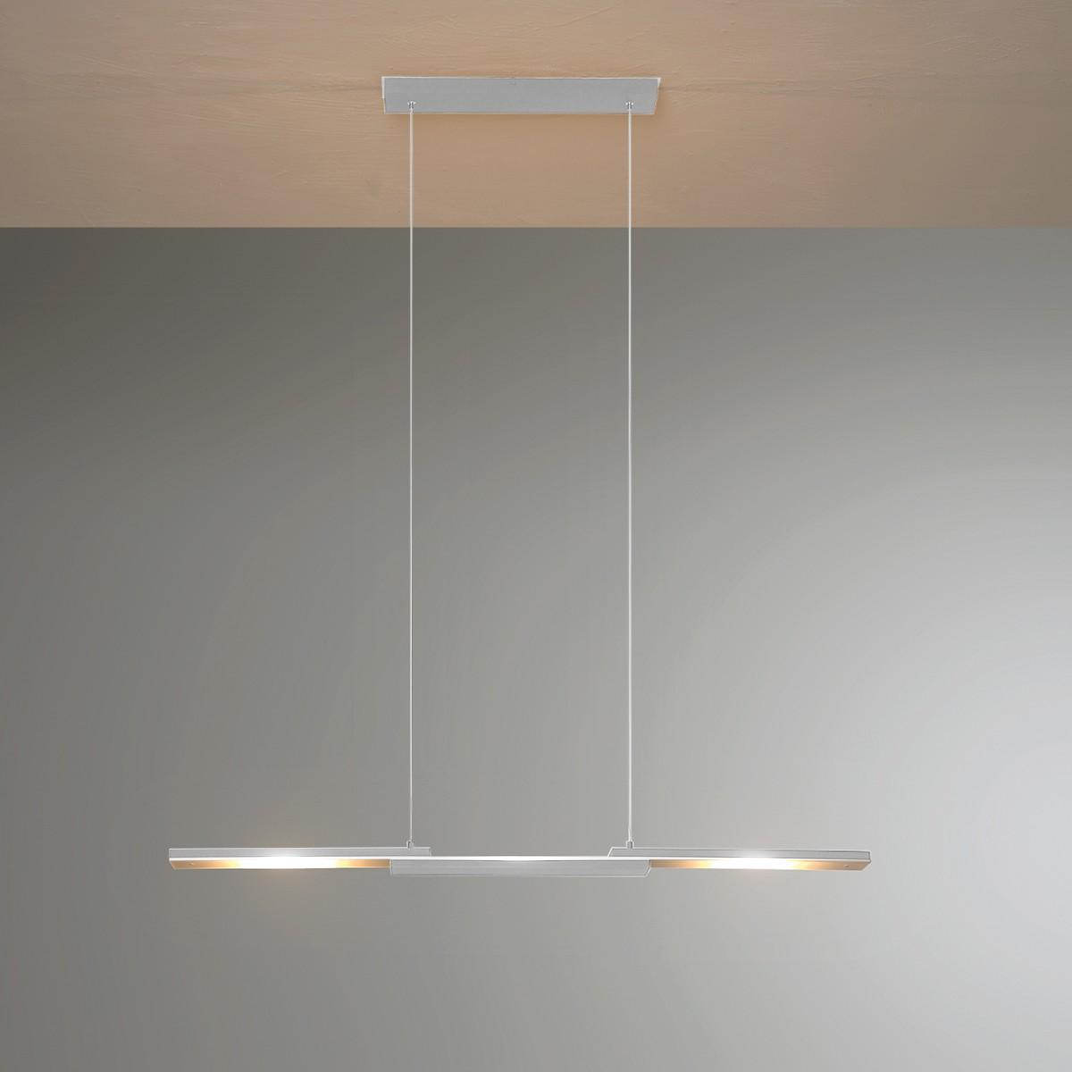 Bopp Easy Pendelleuchte, Aluminium geschliffen, Länge: 95 cm