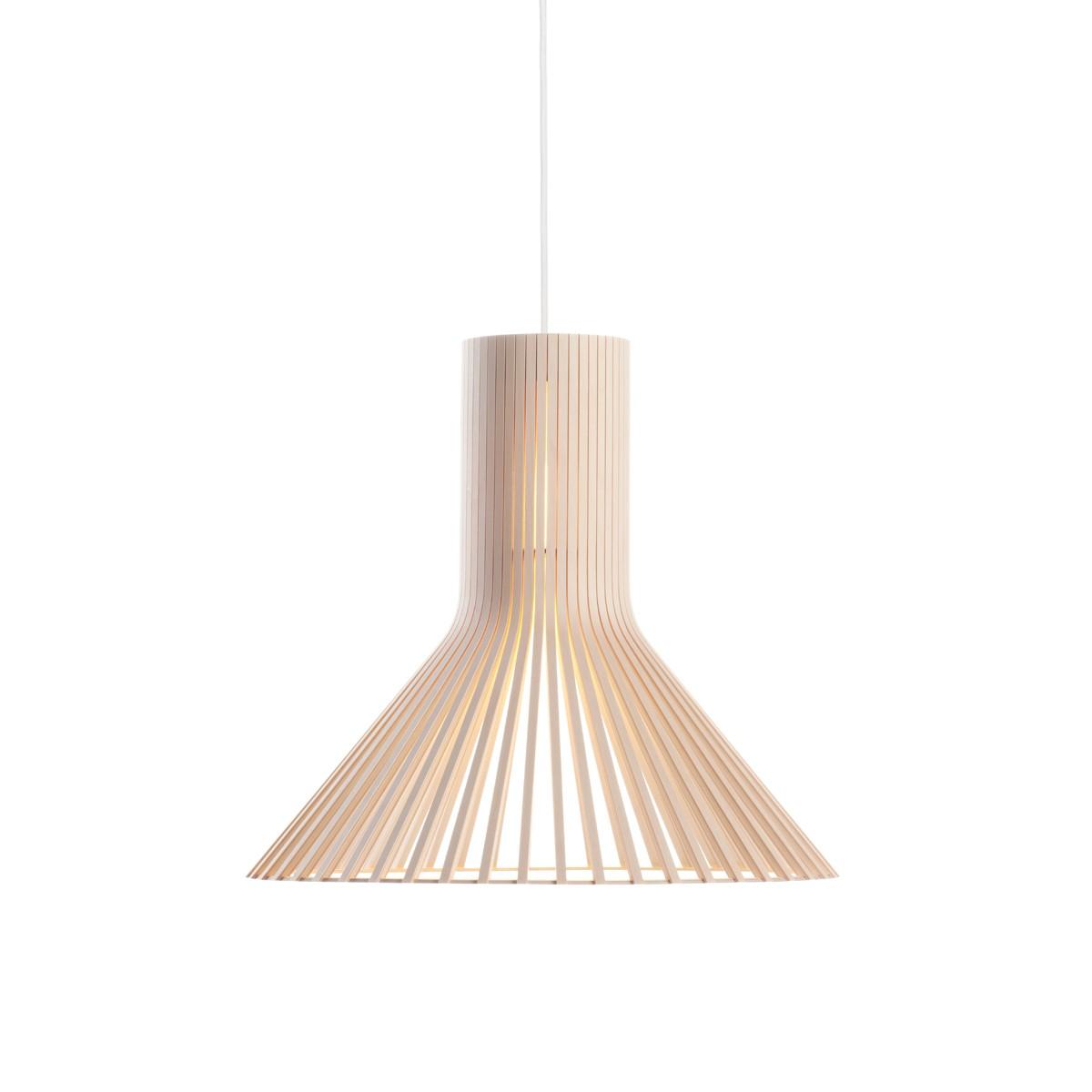 Secto Design Puncto 4203 Pendelleuchte, Birke natur, Kabel: weiß