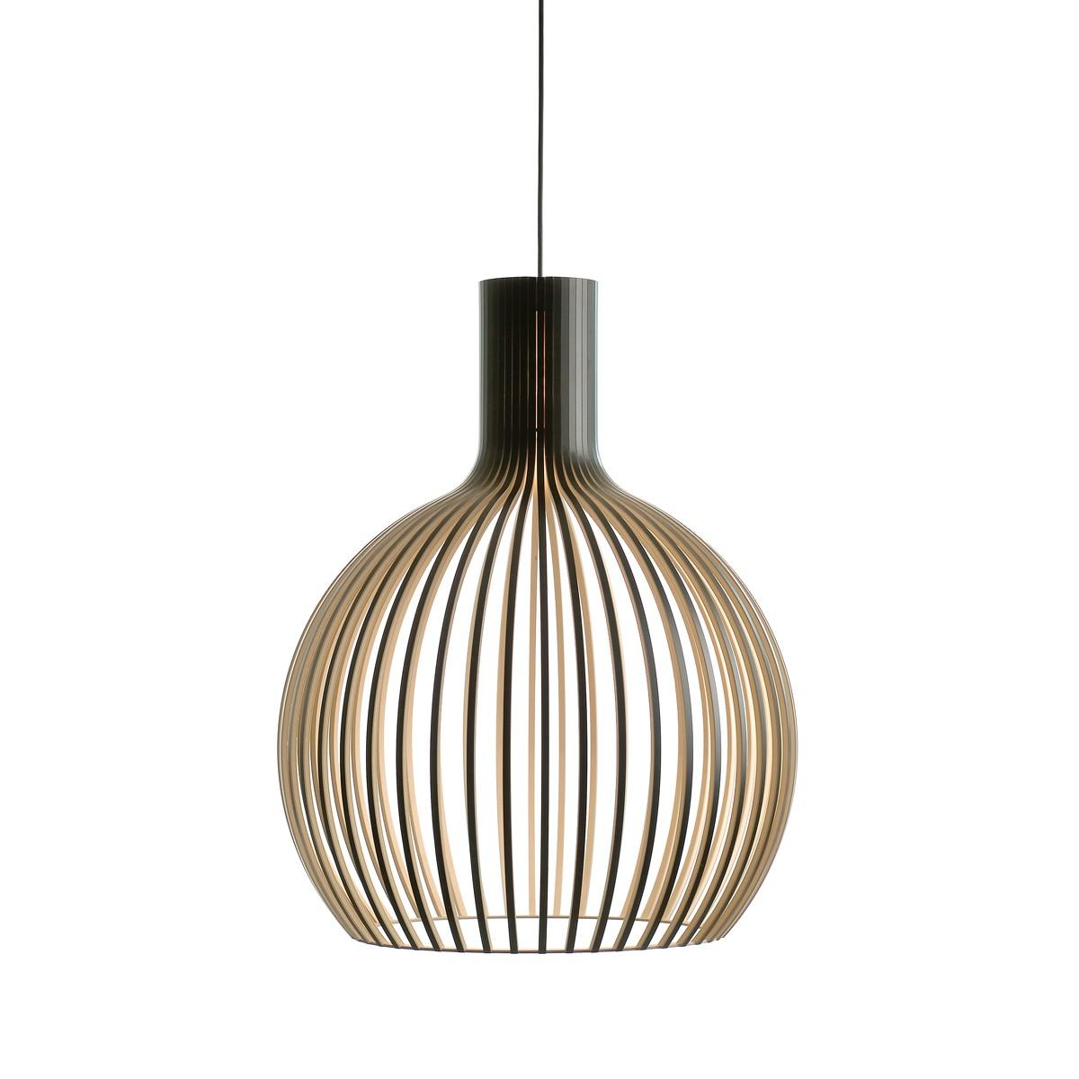 Secto Design Octo 4240 Pendelleuchte, schwarz laminiert, Kabel: schwarz