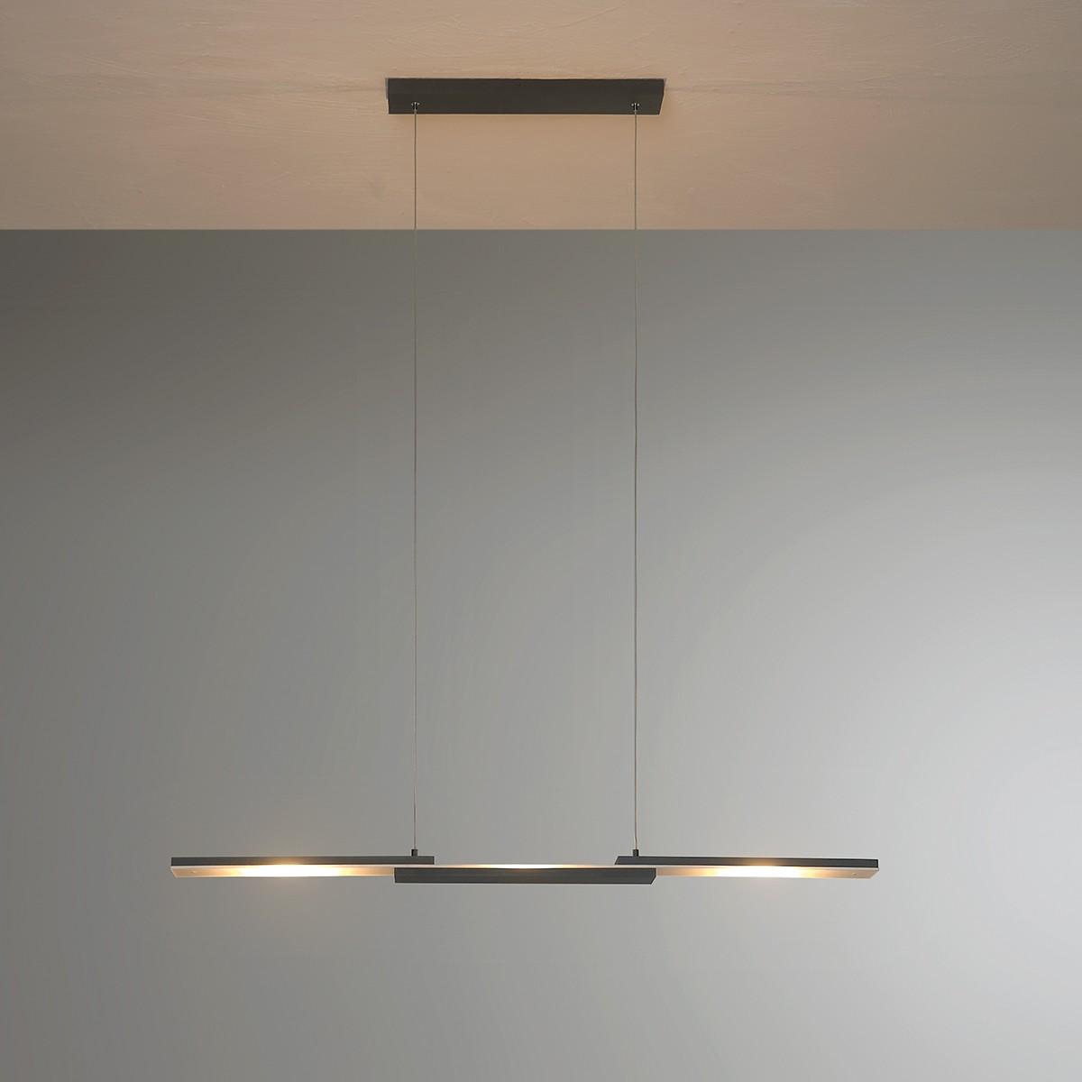 Bopp Easy LED Pendelleuchte, schwarz, Länge: 95 cm