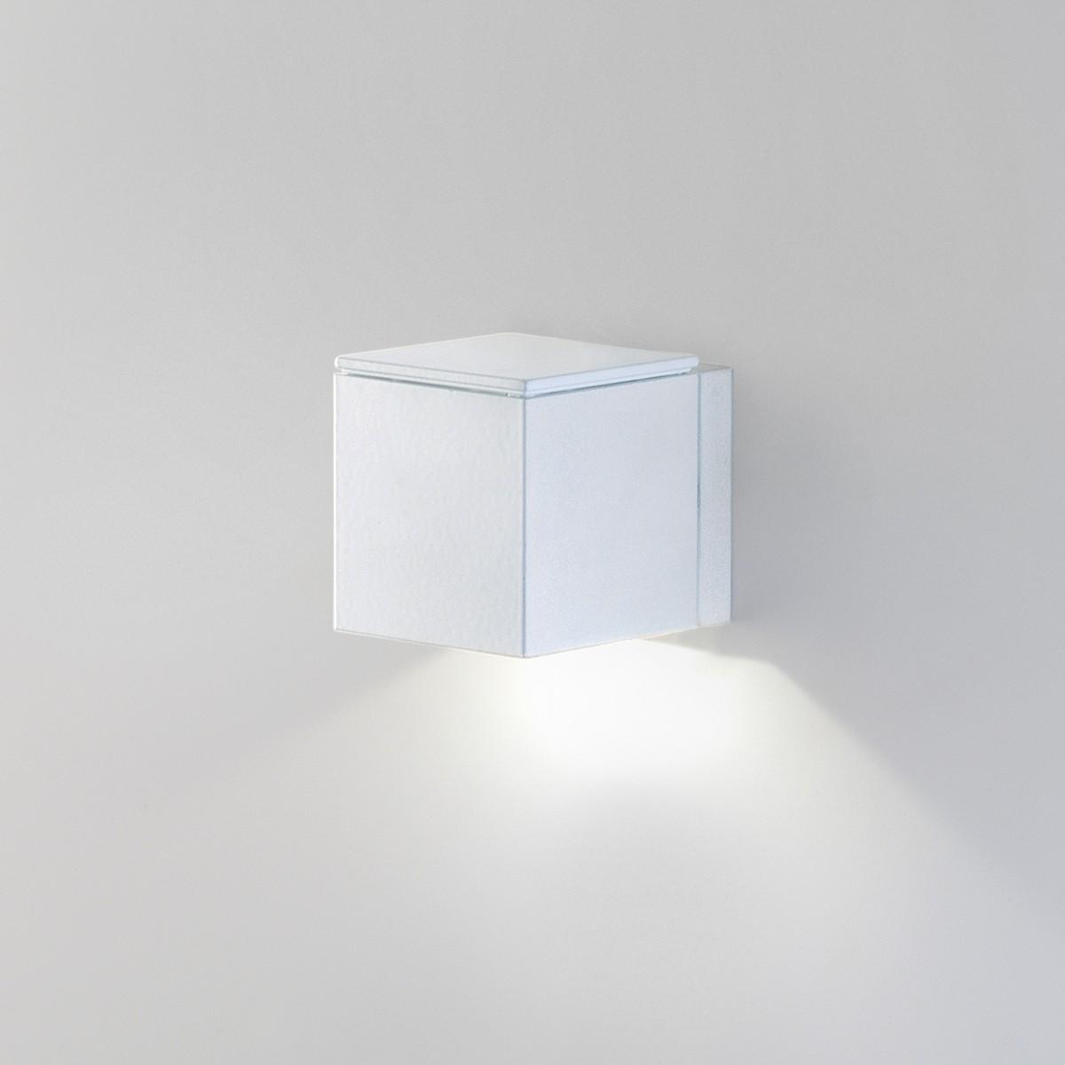 Milan Mini Dau LED Wandleuchte, mattweiß lackiert