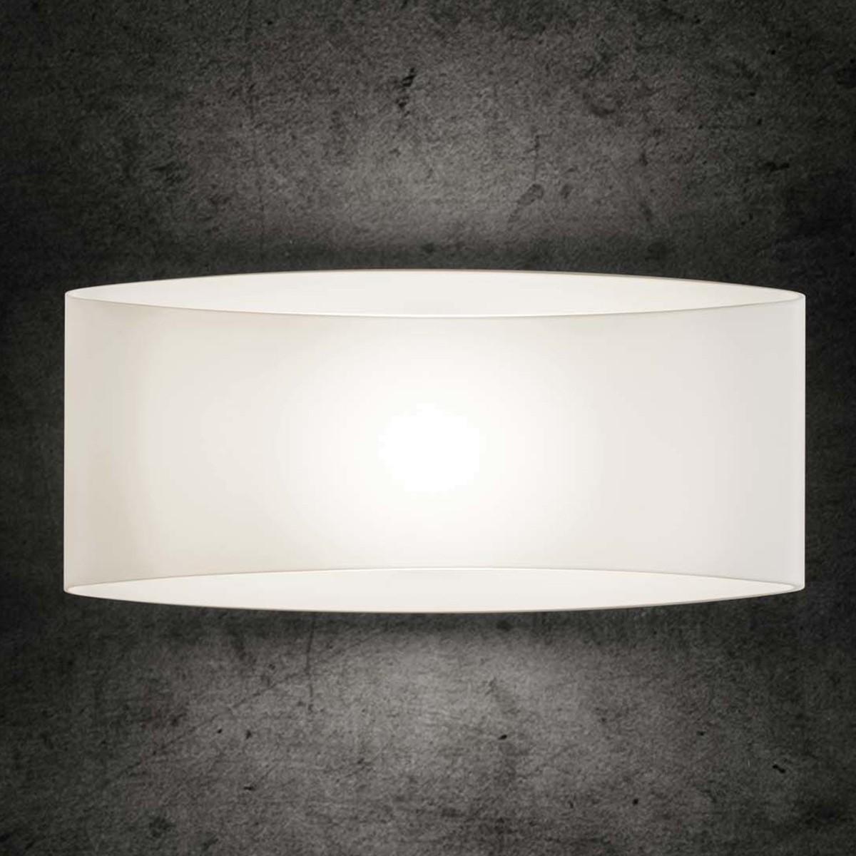 Holtkötter Leuchten 9502 Wandleuchte LED, Glas weiß