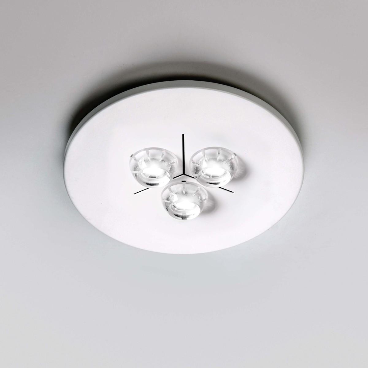 Milan Polifemo LED Deckenleuchte, Ø: 22,5 cm, weiß lackiert