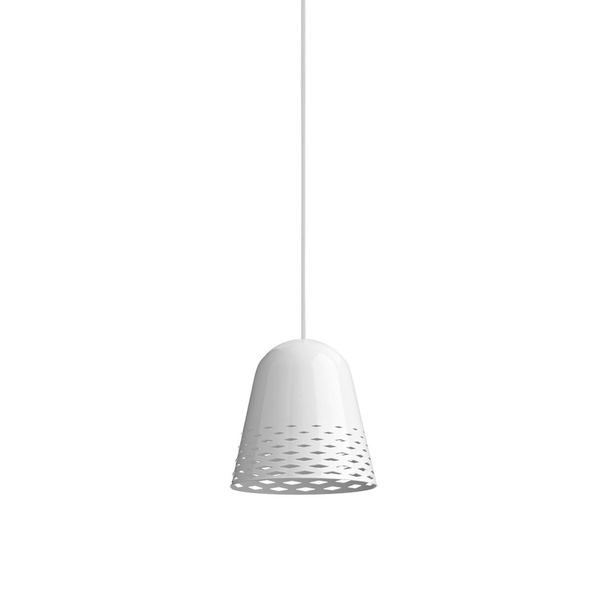 Rotaliana Capri H3 Pendelleuchte, Schirm: weiß glänzend, innen weiß matt, Kabel: weiß