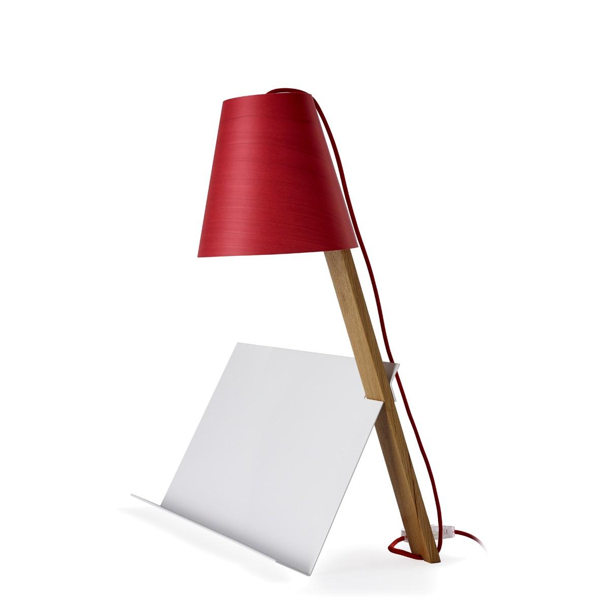 LZF Lamps Asterisco Tischleuchte, Schirm: rot