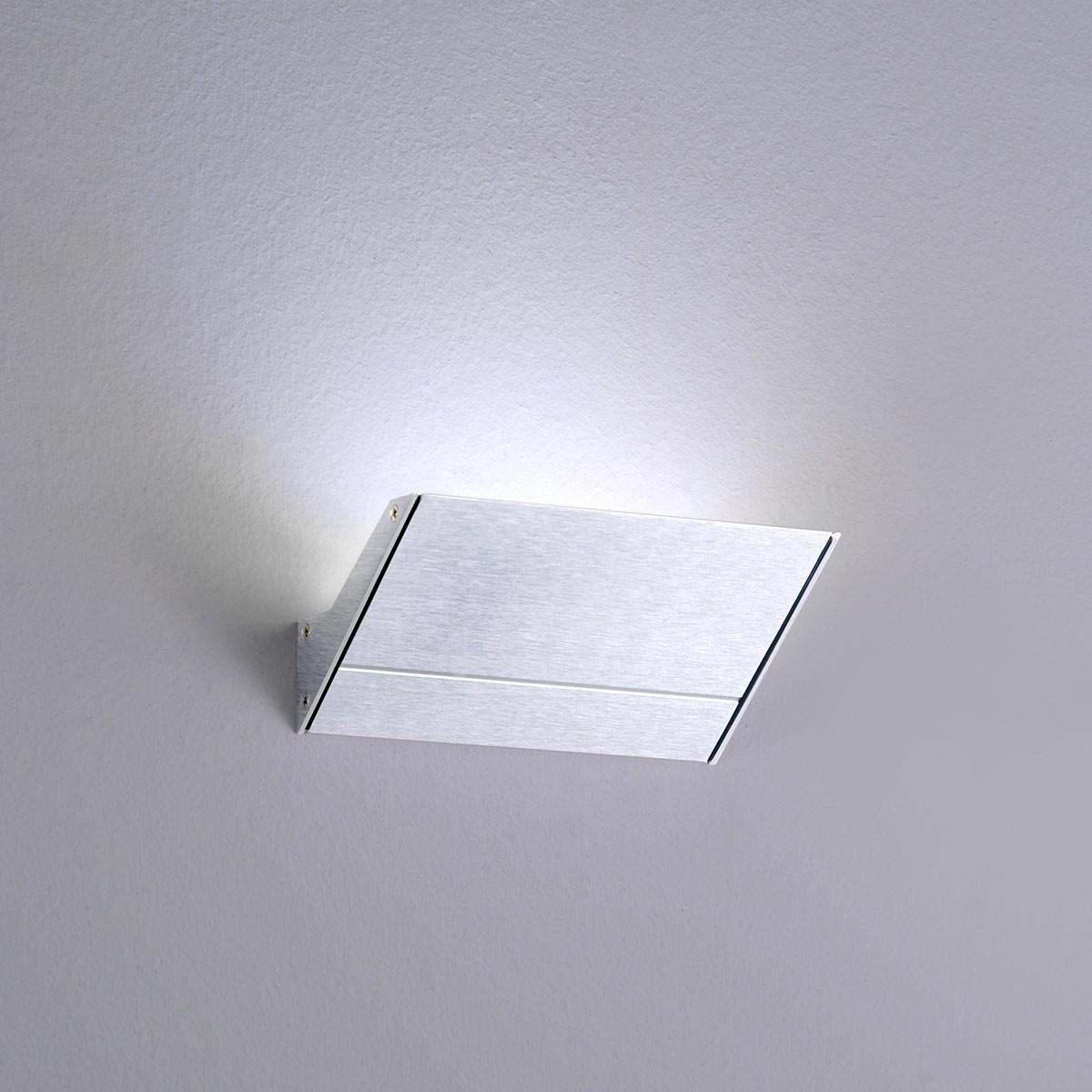 Milan Mini Neva Wandleuchte LED, 1-flg., Alu satiniert