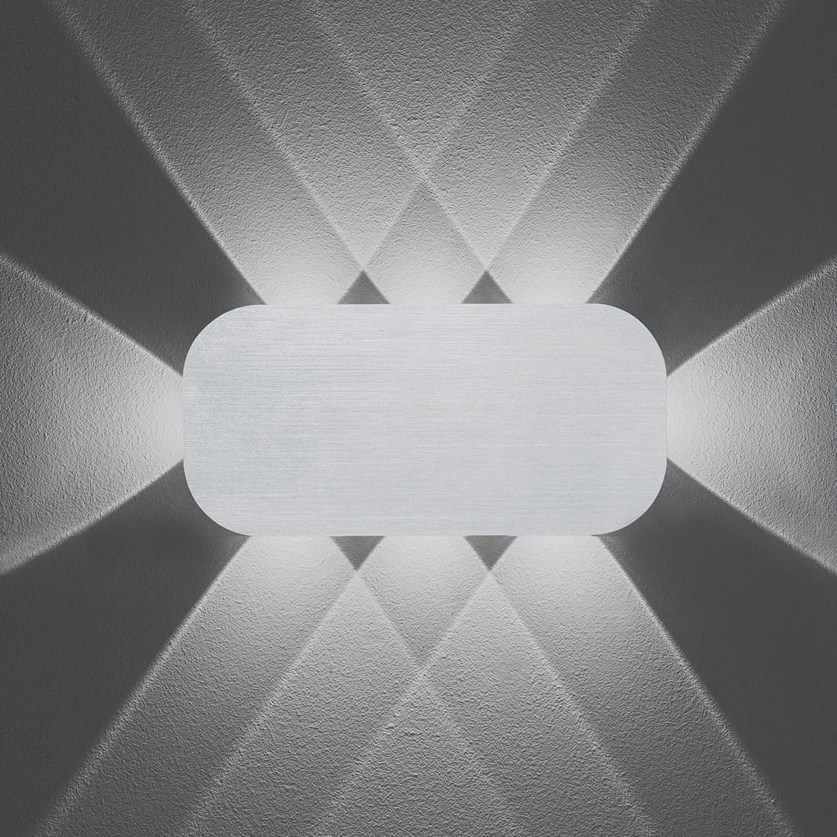 B-Leuchten Prince Wandleuchte, Aluminium