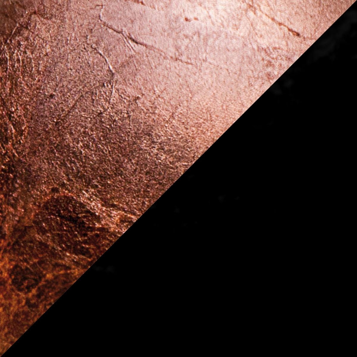 Catellani & Smith Lederam F0 Stehleuchte, Scheibe: Kupfer, Stange: schwarz