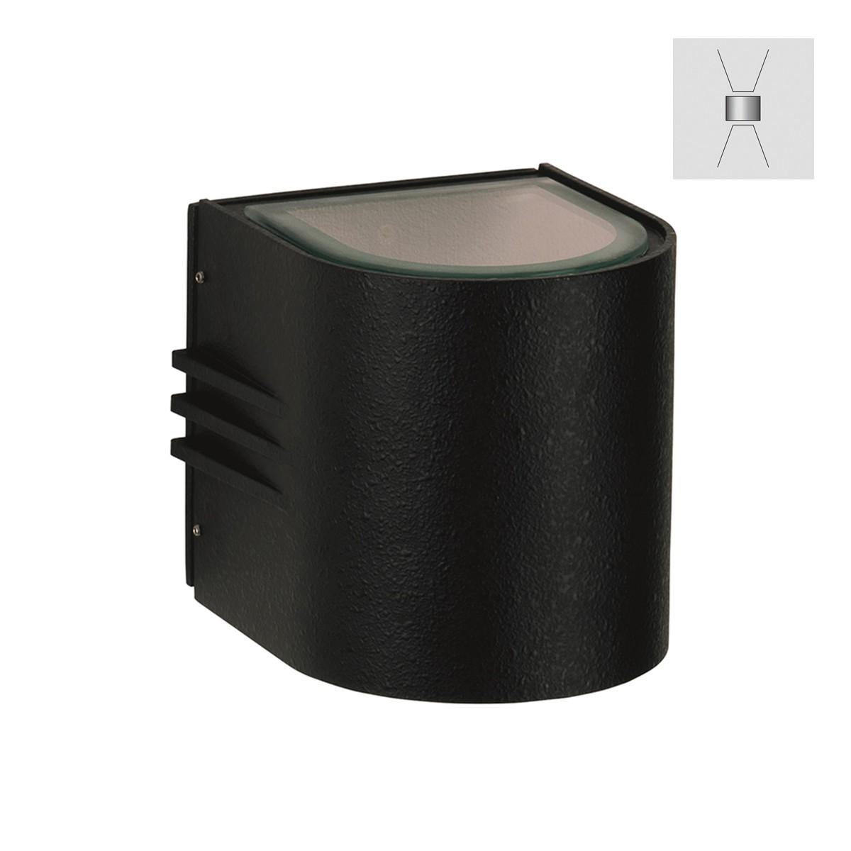 Albert 2308 Wandstrahler, breit/breit, schwarz