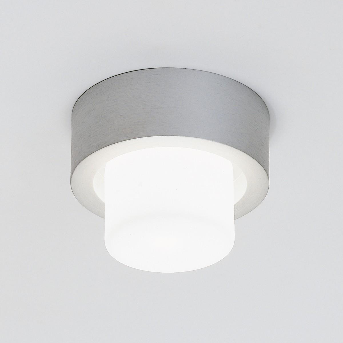Milan Mini Rondo Wand- / Deckenleuchte, Aluminium satiniert