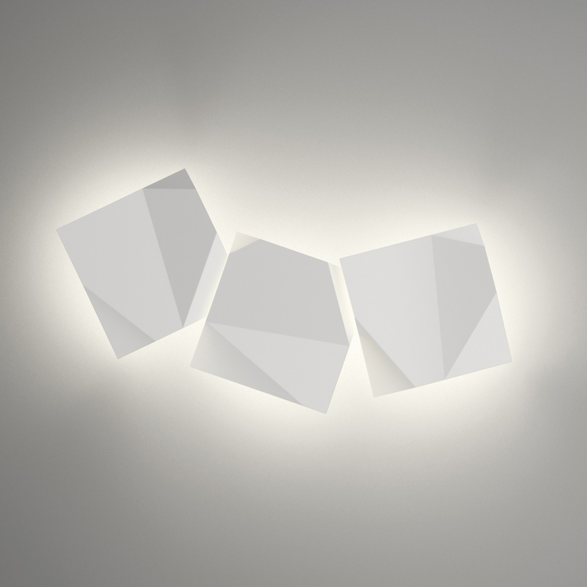 Vibia Origami 4506 Wandleuchte, 3-flg., weiß matt