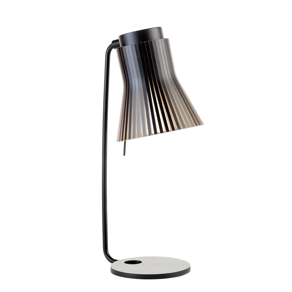 Secto Design Petite 4620 Tischleuchte, schwarz, Schirm: schwarz laminiert