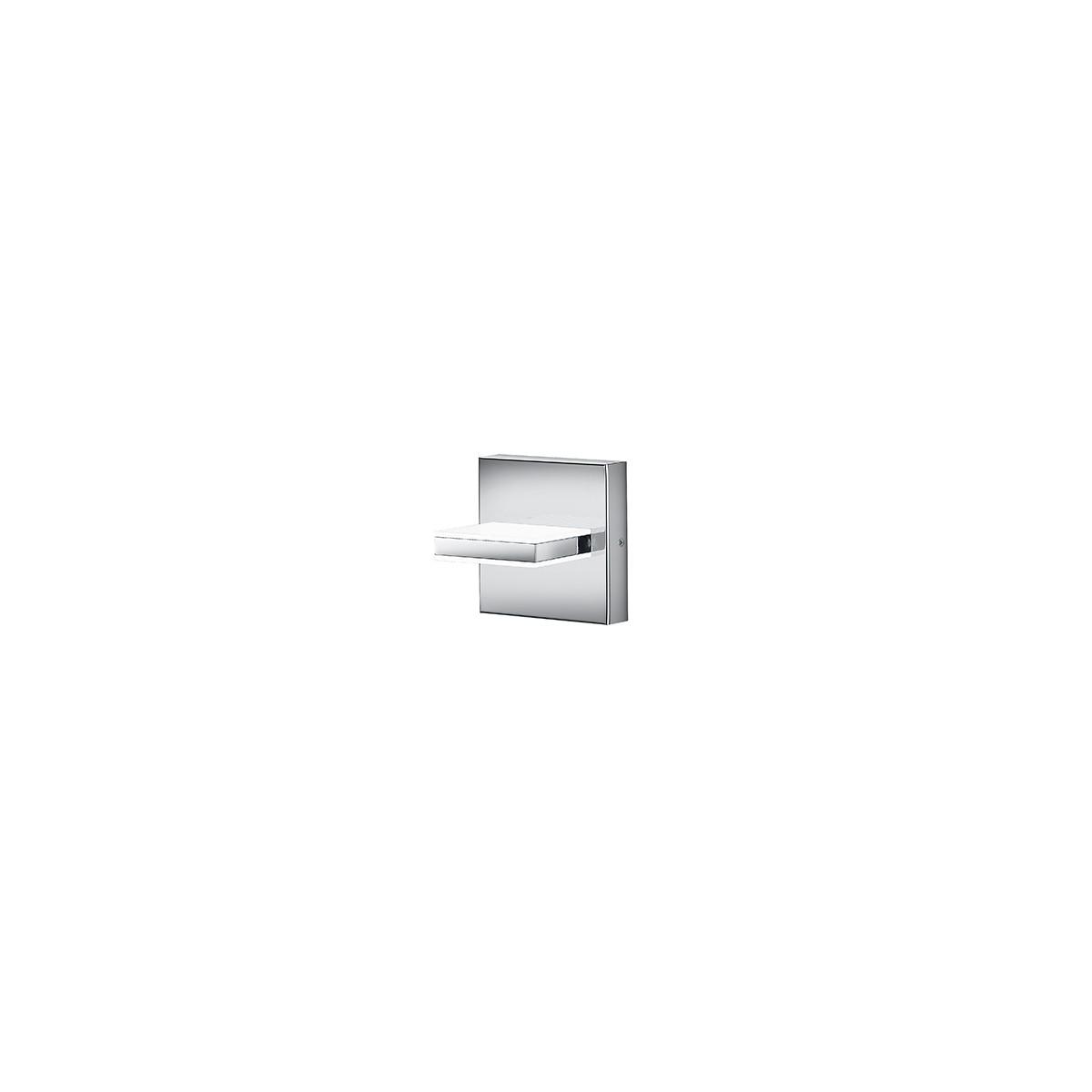 Bankamp Linea Wandleuchte, 13 x 13 cm, Nickel matt / Chrom