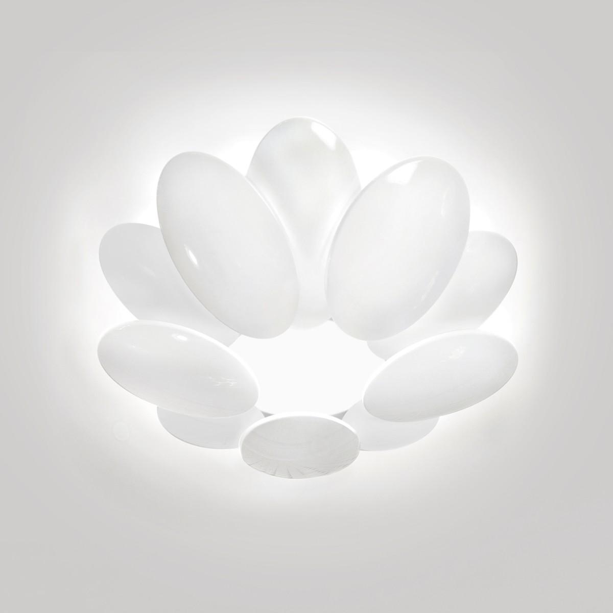 Milan Obolo Deckenleuchte, Ø: 35,4 cm, weiß lackiert