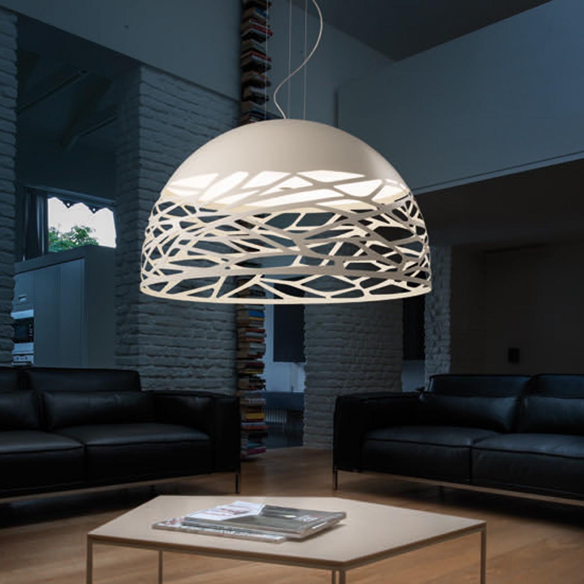 Studio Italia Design Kelly Large Dome 80 Pendelleuchte, weiß matt