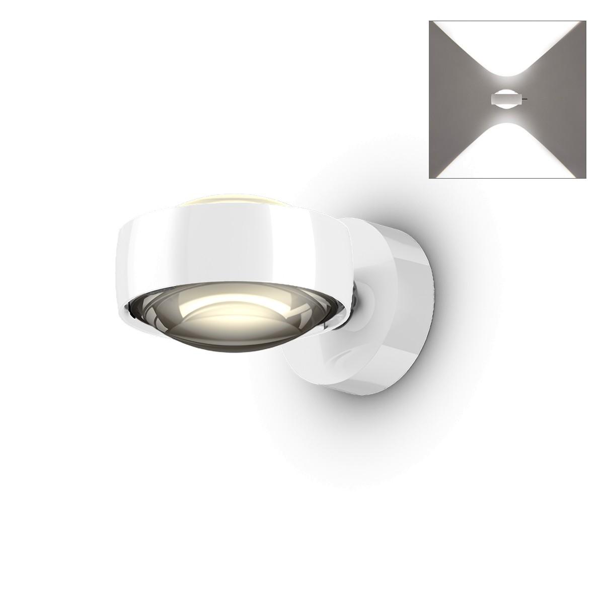 Occhio Sento D LED verticale up Wandleuchte, 18 W / 2700 K, Chrom / weiß glänzend