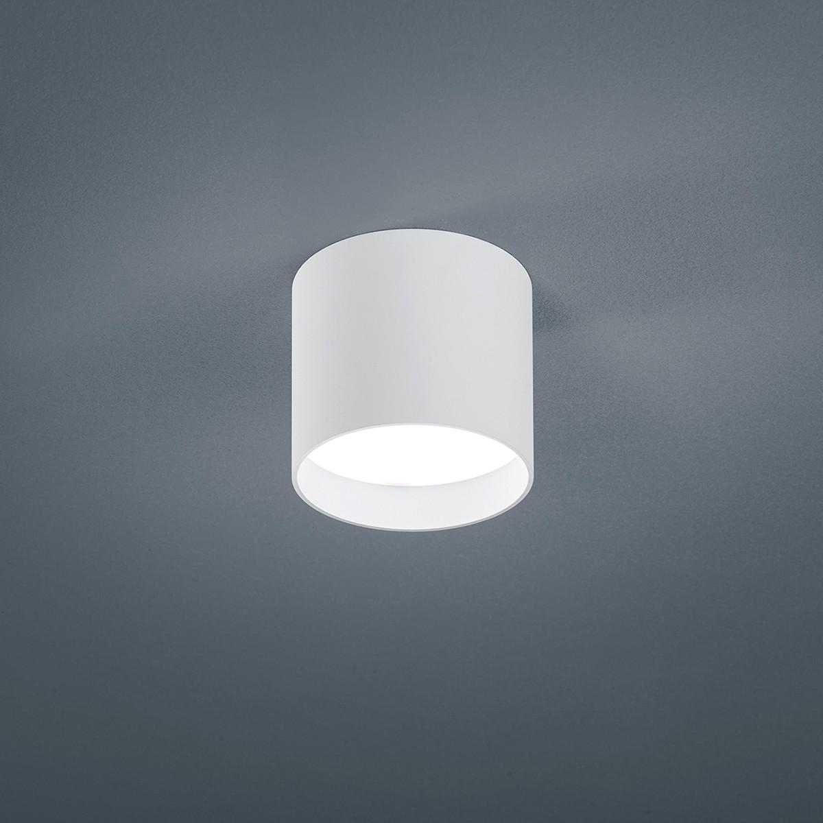 Helestra Dora Deckenleuchte, rund, weiß matt - Glas satiniert