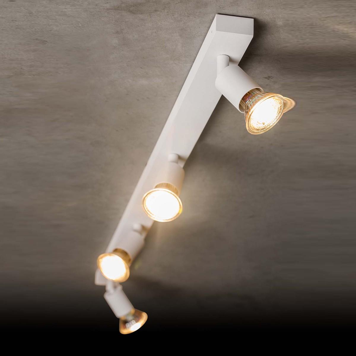 Holtkötter Leuchten 4504 Deckenstrahler, Aluminium matt, 4-flg.