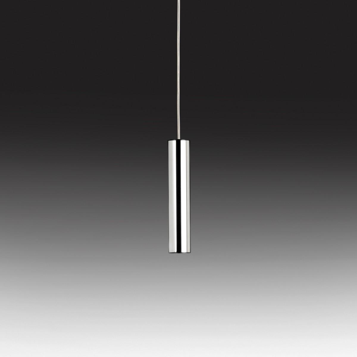 Milan Tub LED Pendelleuchte, Edelstahl poliert / schwarz
