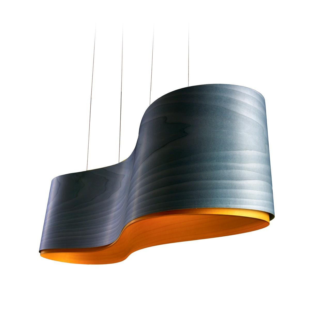 LZF Lamps New Wave LED Pendelleuchte, blau, innen: gelb