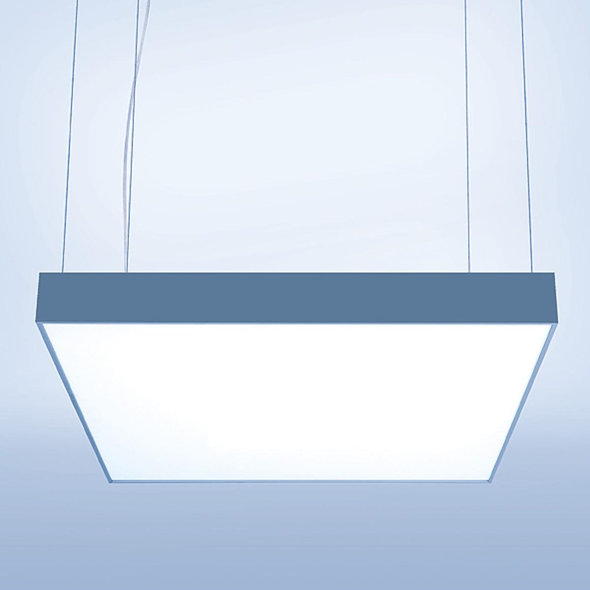 Lightnet Cubic-P2 Pendelleuchte, 53 x 53 cm, Aluminium natureloxiert