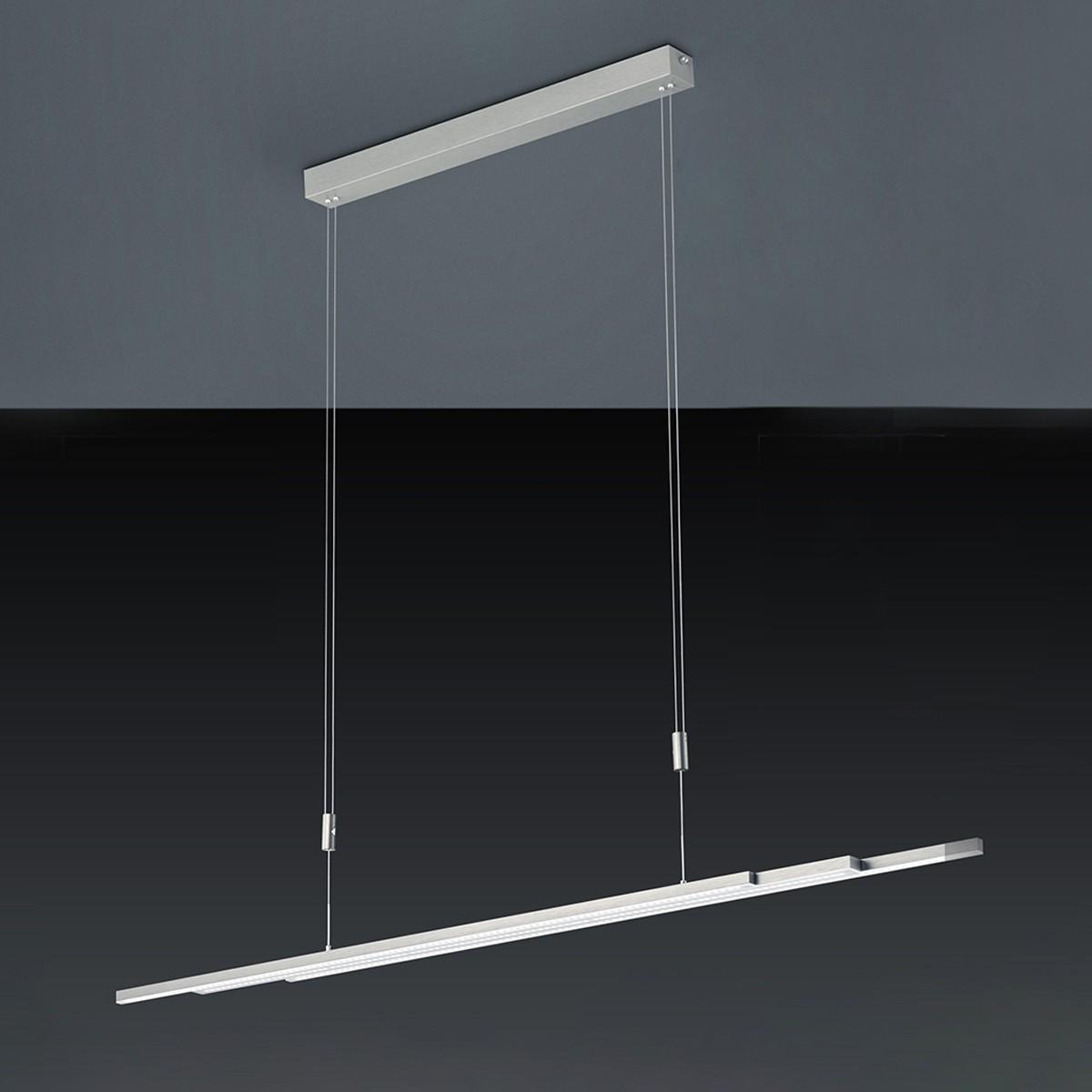 bankamp l lightline vertical dimm pendelleuchte nickel matt orthoonline. Black Bedroom Furniture Sets. Home Design Ideas