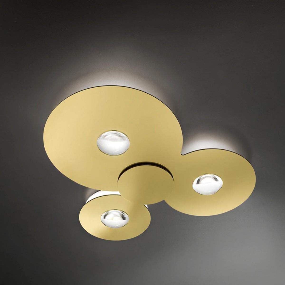 Studio Italia Design Bugia Triple Deckenleuchte, 2700 K, Gold