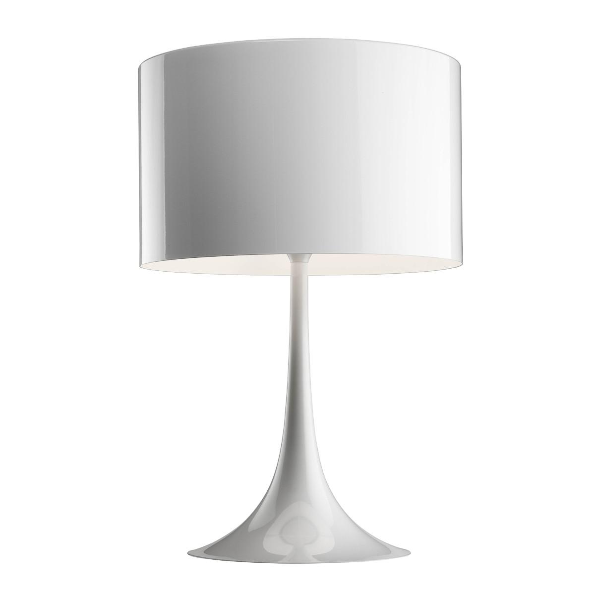 Flos Spun Light T Tischleuchte, T2, Höhe: 68 cm, weiß glänzend