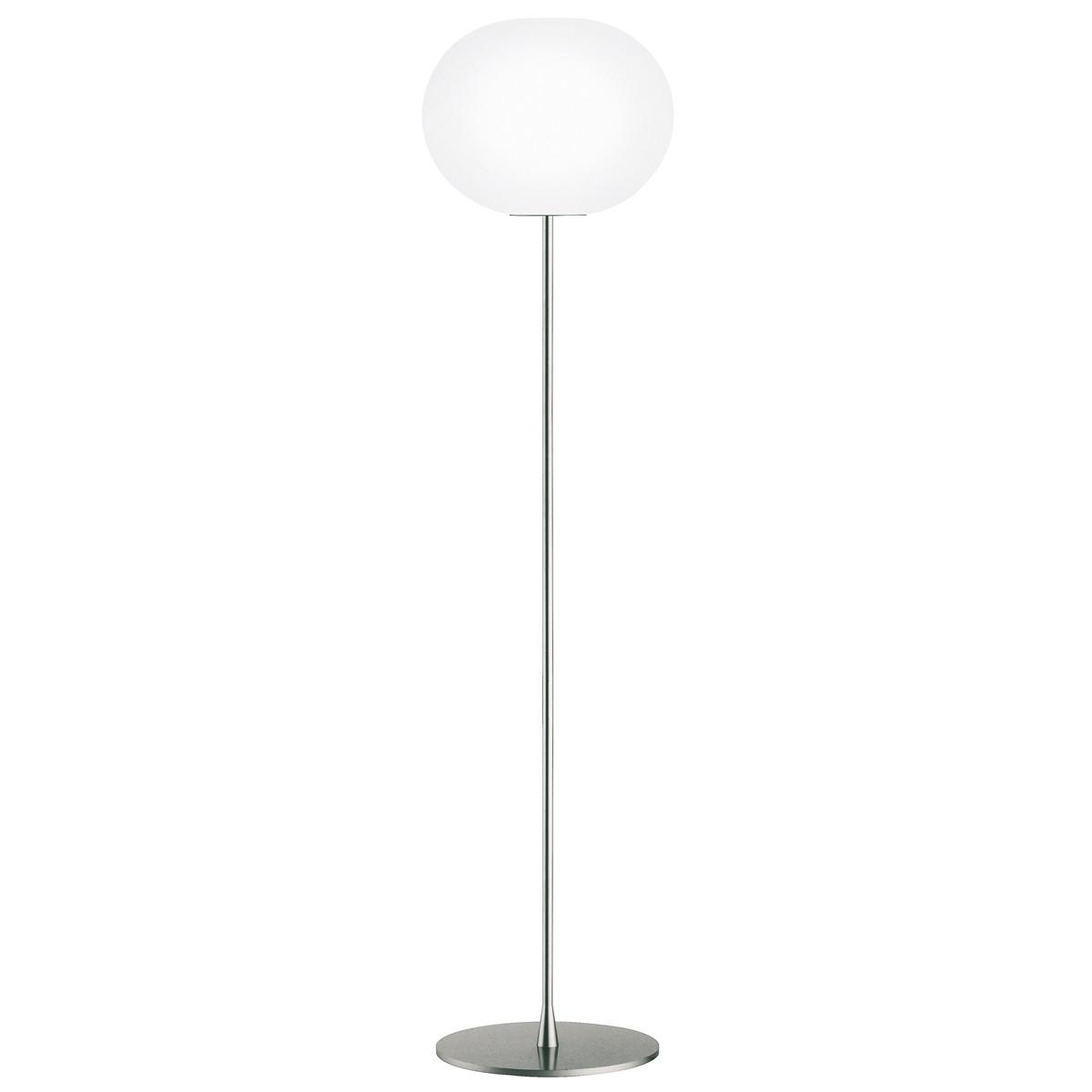 Flos Glo-Ball F Stehleuchte, F3, Höhe: 185 cm, Silber matt