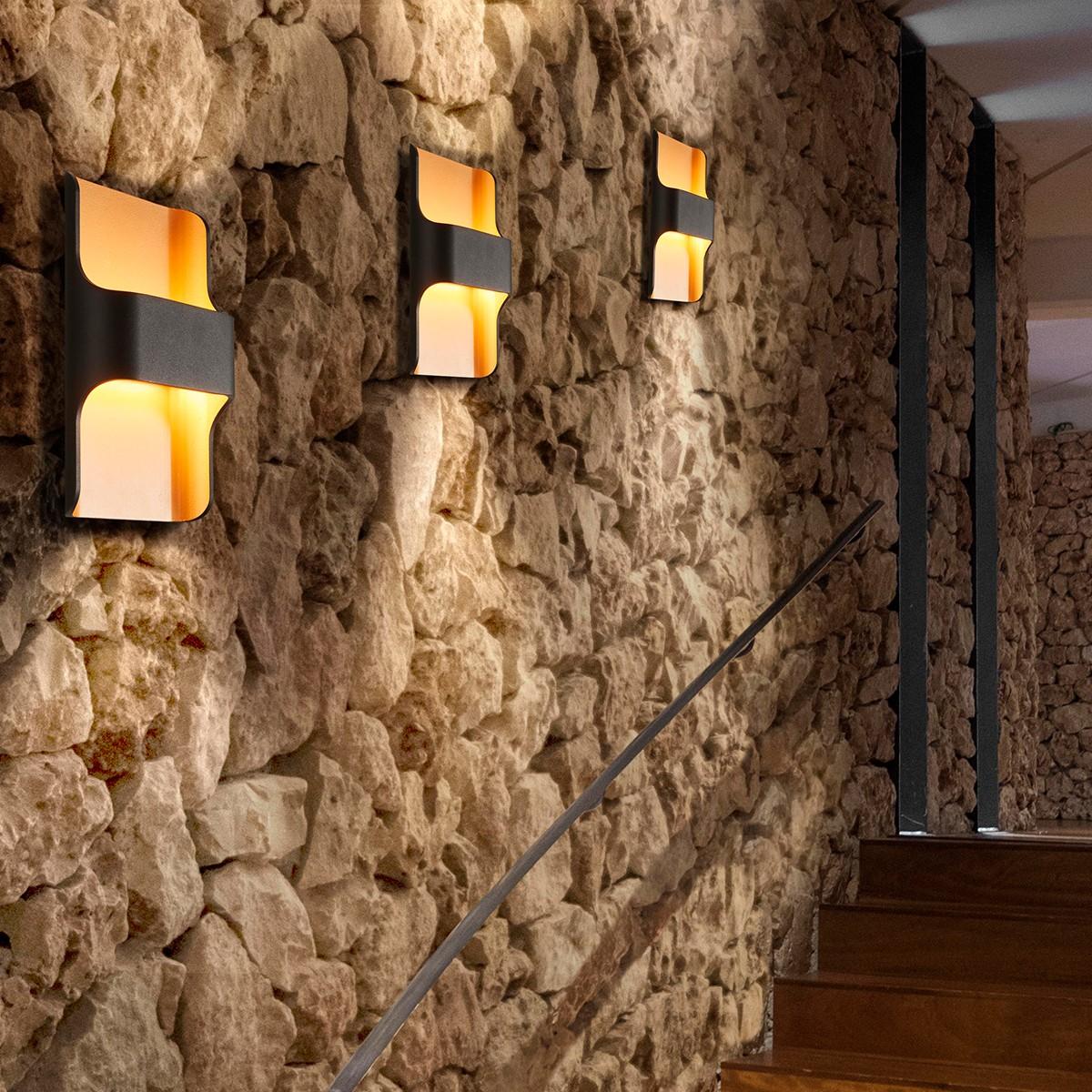 mylight dortmund wandleuchte schwarz gold fahrschulen heins. Black Bedroom Furniture Sets. Home Design Ideas