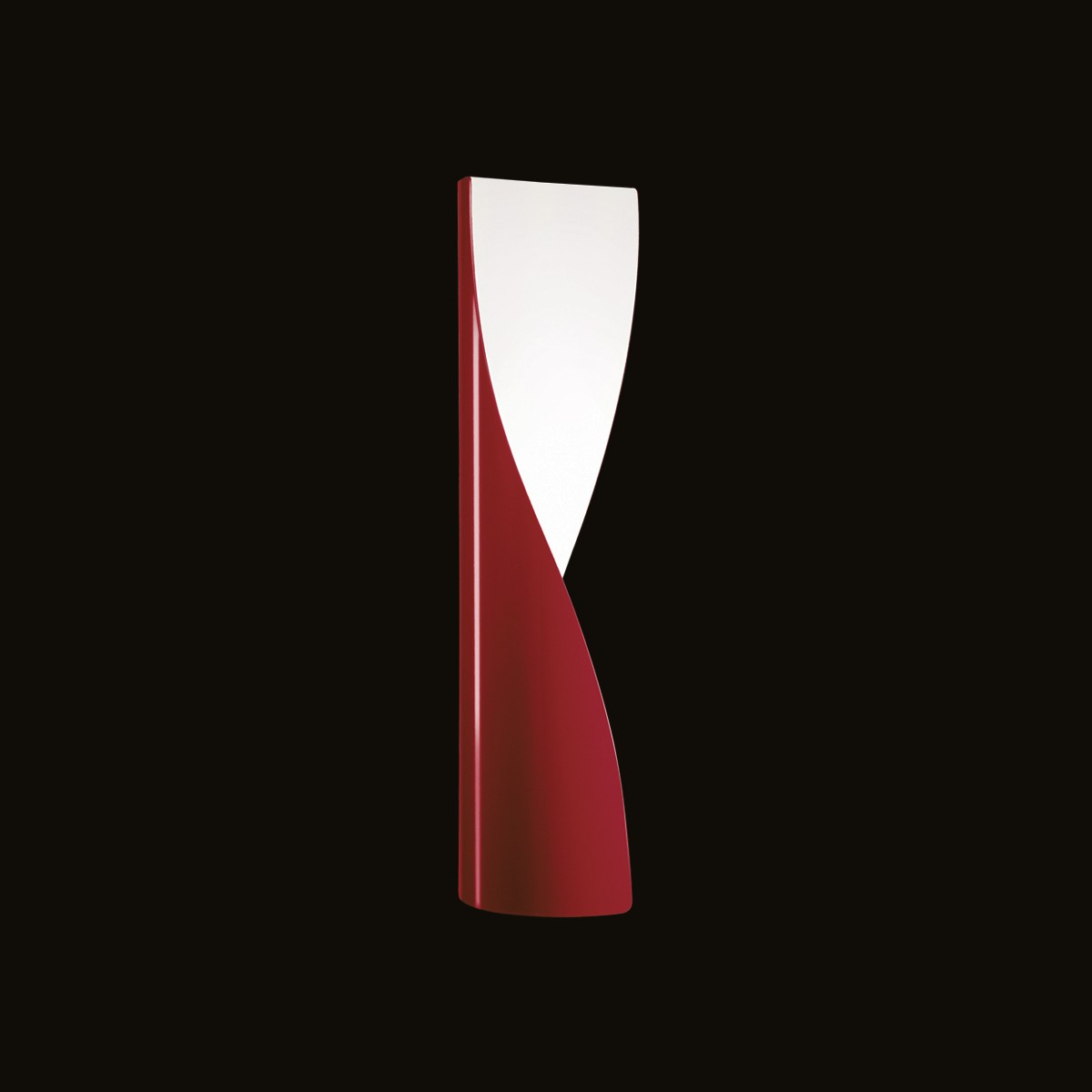 Kundalini Evita Wandleuchte, rot glänzend