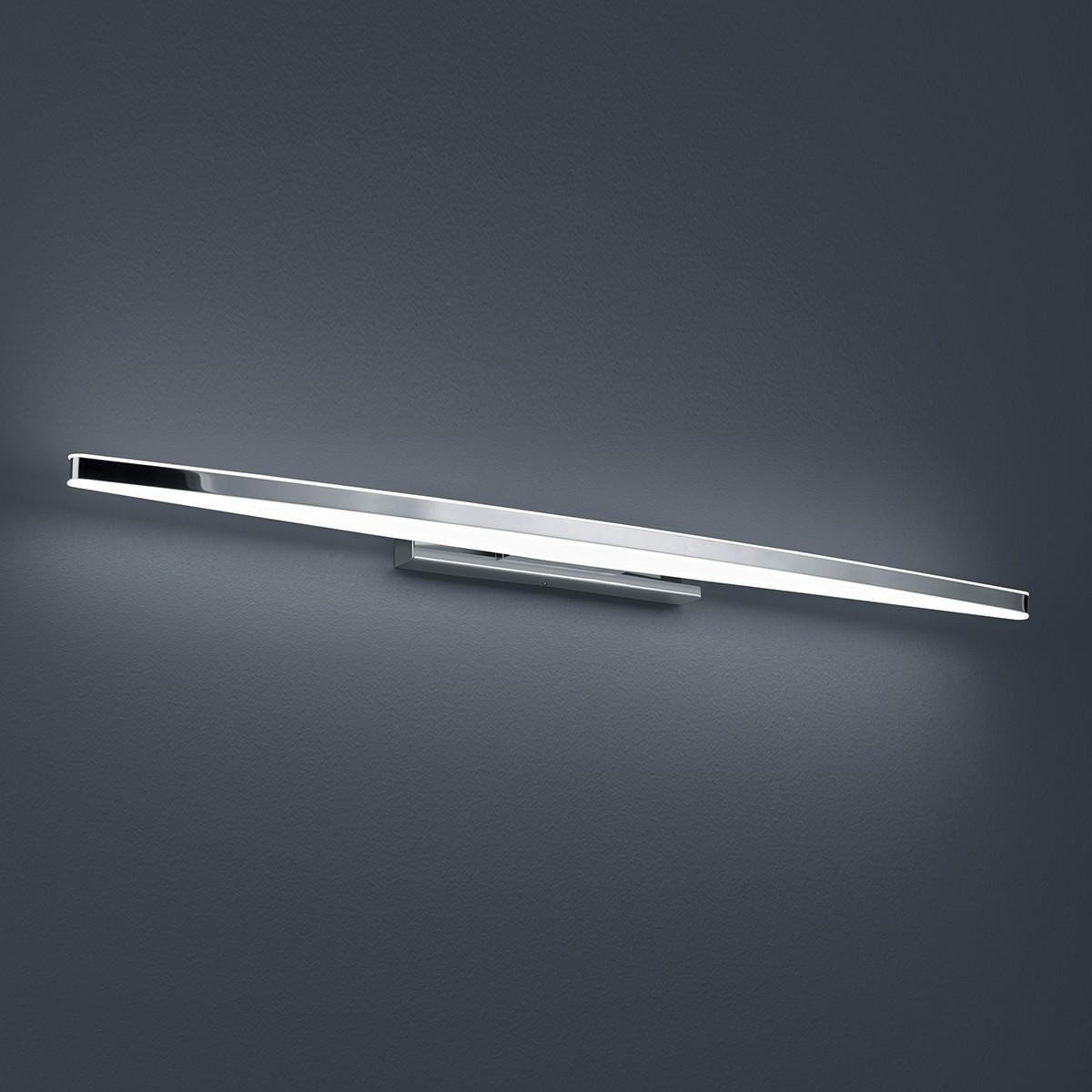 Helestra Argo Wandleuchte, Länge: 80 cm, Chrom - Acrylglas satiniert