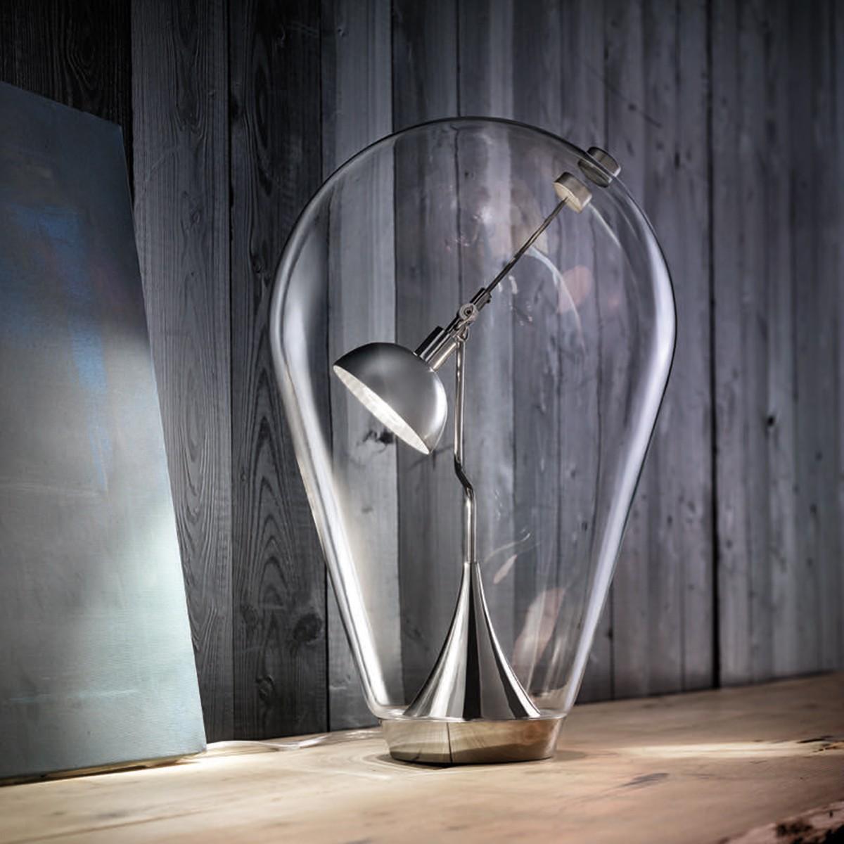 Studio Italia Design Blow LED Tischleuchte, Chrom